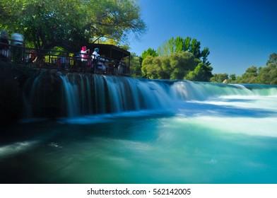 The waterfall in Manavgat / Side in Turkey