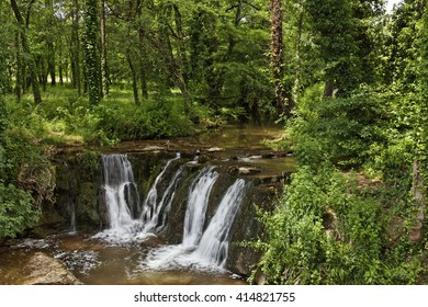 Waterfall, Massif des Maures, Provence, Southern France, Europe