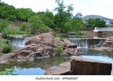 Waterfall in Medicine Park Oklahoma
