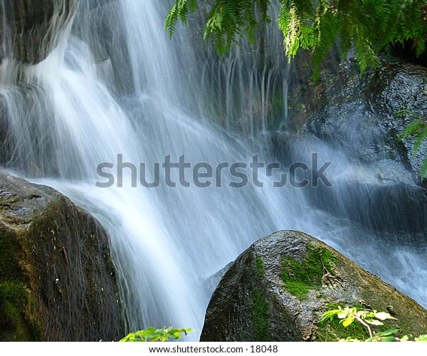 Waterfall at the Minnesota Arboretum