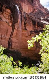 A waterfall in Moab, Utah.