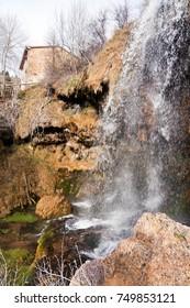 Waterfall Molino Virgen, Chorrera, river Jucar, Tragacete, Cuenca, Spain