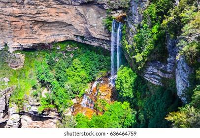 Waterfall mountain in Blue Mountains, Australia