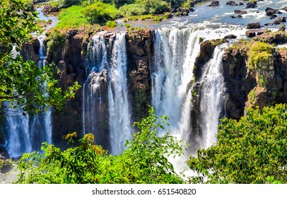 Waterfall mountain stock images royalty free images vectors waterfall mountain scene altavistaventures Gallery