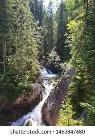 Waterfall of the mountain stream