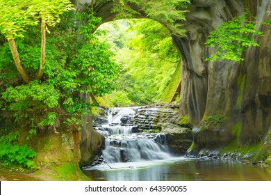 Waterfall mountain images stock photos vectors shutterstock waterfall in the mountains altavistaventures Images
