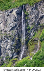 A waterfall in mountains of southern Norway.
