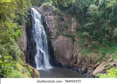 the  waterfall name Haew Narok at the winter