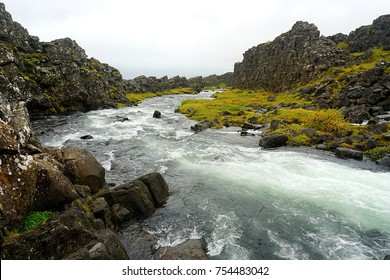 Öxarárfoss waterfall in Þingvellir National Park