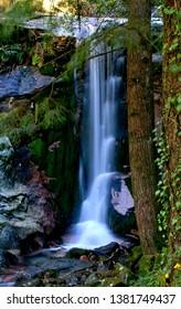 Waterfall in National Park of Peneda Geres, Portugal