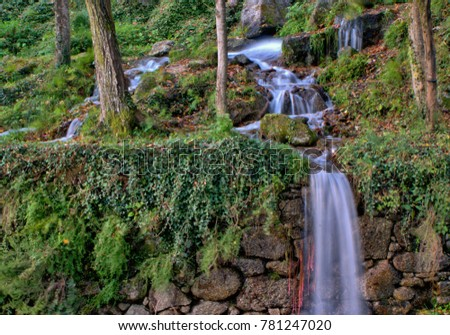 Waterfall in National Park of Peneda Geres, Portugal
