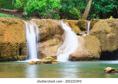 Waterfall in National Park, Saraburi, Thailand