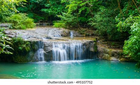 Waterfall at national park, thailand