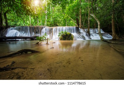Waterfall nature in the forest,Thailand