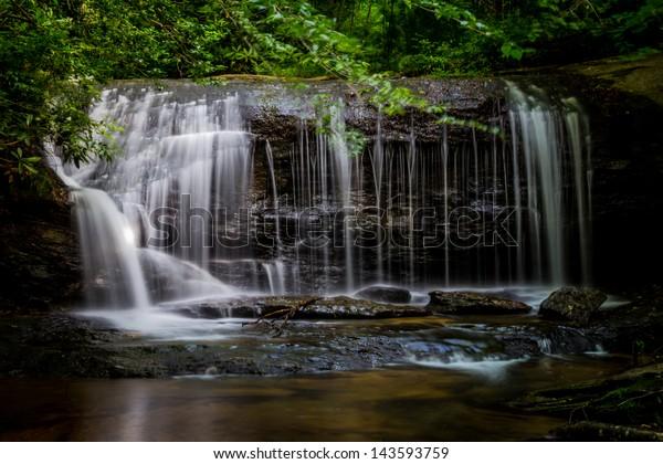 Waterfall near Caesar's Head State Park, SC.