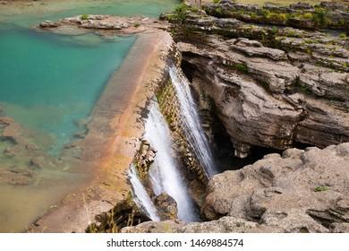 Waterfall near Podgorica, the capital of Montenegro