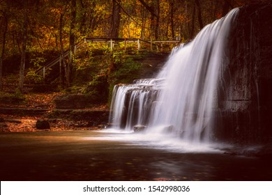 Waterfall in Nerstrand Minnesota calls Hidden Falls