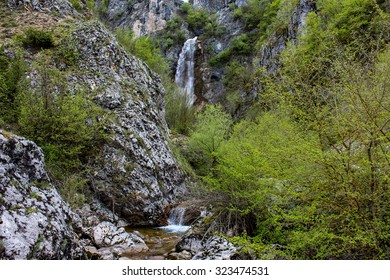 Waterfall at Nevidio canyon in Montenegro