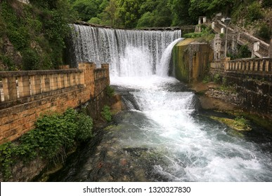 Waterfall in New Athos in Abkhazia