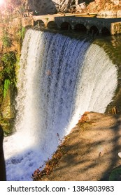 The waterfall in New Athos, Abkhazia. Artificial waterfall in Abkhazia, used as a hydroelectric power plant.