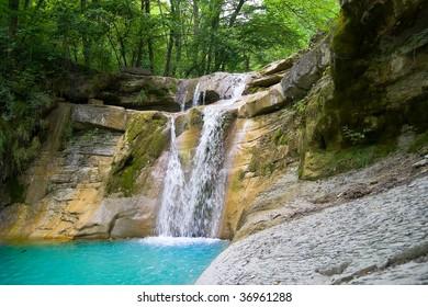 waterfall of Northern Caucasia