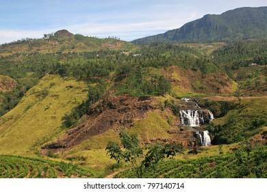 Waterfall in Nuwara Eliya, Sri Lanka