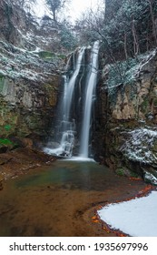 A waterfall in old Tbilisi, winter time. Landscape