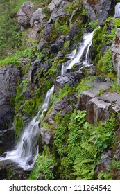 Waterfall in the Olympic Mountains