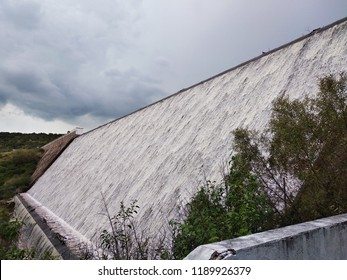 Waterfall on border of presa de la ordeña vieja Calvillo Aguascalientes