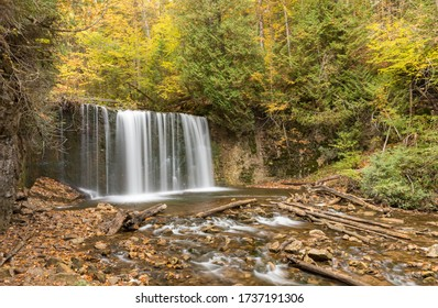 A waterfall on the Bruce Peninsula of Canada