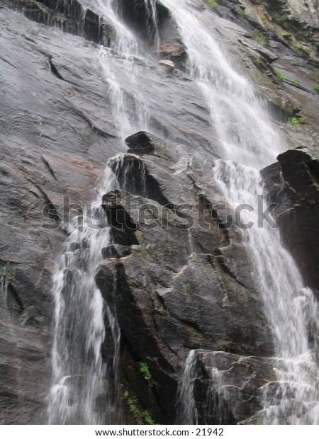 Waterfall on sheer face