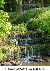 Waterfall over stone steps