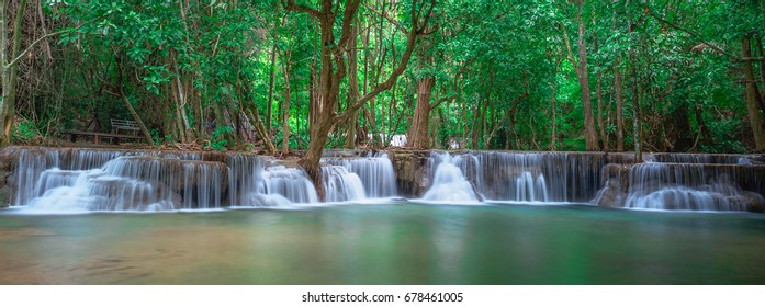 Waterfall panoramic landscape in Thailand