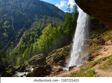 Waterfall Pericnik in Slovenia