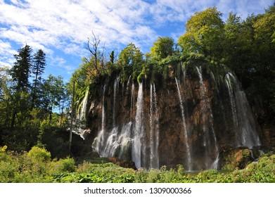 Waterfall in Plitvice Lakes, Croatia