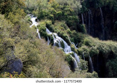 Waterfall at the plitvice national park / Croatia