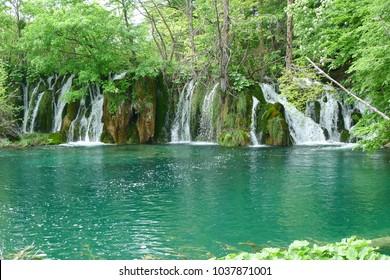 Waterfall pool landscape