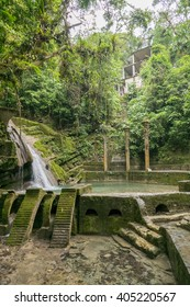 """Waterfall and Pool of Las Pozas """"The Pools"""" Surreal Gardens in Xilitla, Mexico"""