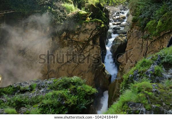 waterfall in Popocatl, Veracruz, Mexico