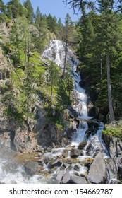 Waterfall in Posets-Maladeta Natural Park, Benasque Valley