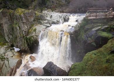 Waterfall of Pozo de los Humos, Salamanca province, Spain - Shutterstock ID 1696001377