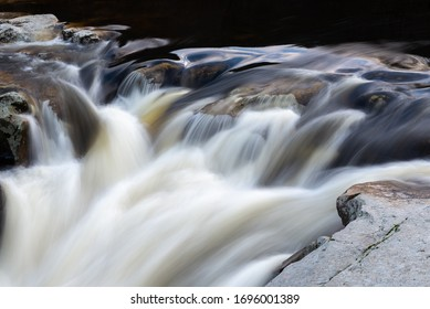 Waterfall of Pozo de los Humos, Salamanca province, Spain - Shutterstock ID 1696001389