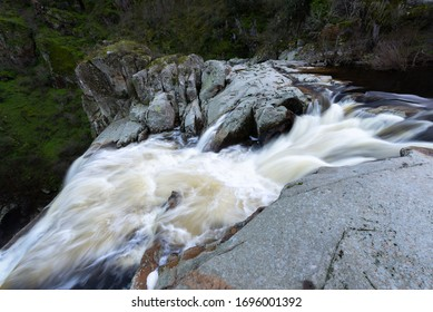 Waterfall of Pozo de los Humos, Salamanca province, Spain - Shutterstock ID 1696001392