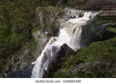 Waterfall of Pozo de los Humos, Salamanca province, Spain - Shutterstock ID 1696001440