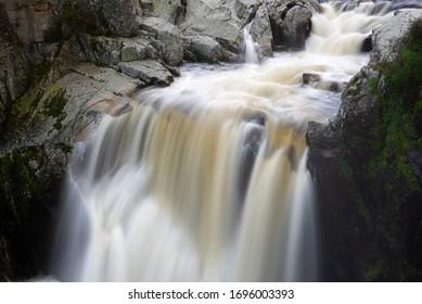 Waterfall of Pozo de los Humos, Salamanca province, Spain - Shutterstock ID 1696003393