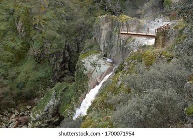 Waterfall of Pozo de los Humos, Salamanca province, Spain - Shutterstock ID 1700071954