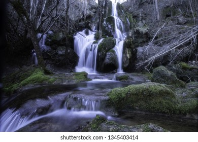 Waterfall in the province of Alava, Basque Country.