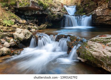 Waterfall of Puente Ra, Sierra Cebollera Natural Park, La Rioja, Spain