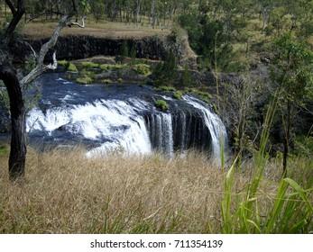 Waterfall in rain forest of Australia