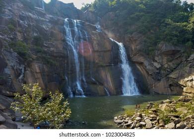A waterfall at Ranchi, India